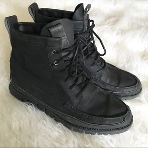 Cole Haan Black zero grand leather ankle boots